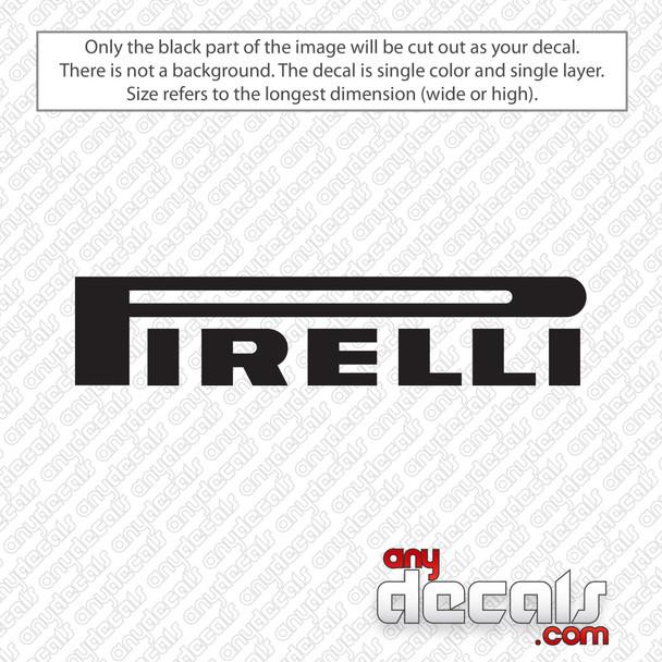 Pirelli Logo Decal Sticker
