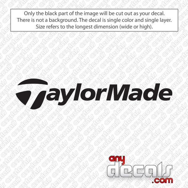 TaylorMade Logo Golf Decal Sticker