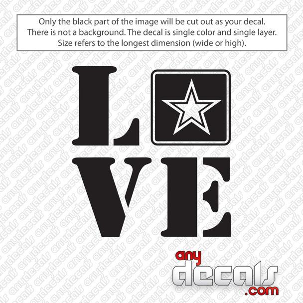 Army Love Decal Sticker