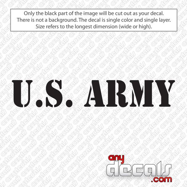 U.S. Army Text Decal Sticker