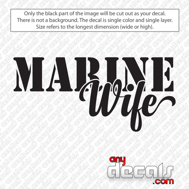Marine Wife Decal Sticker
