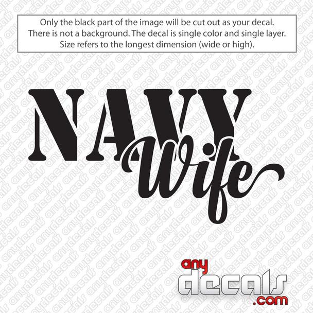 Navy Wife Decal Sticker