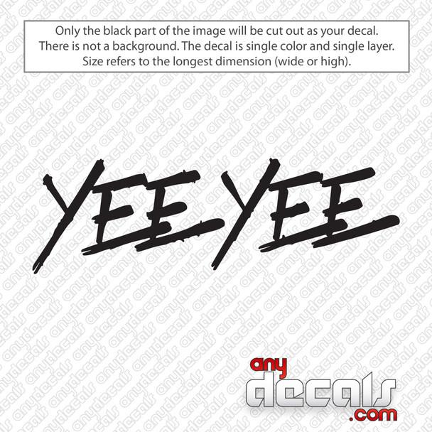 Yee Yee Logo Decal Sticker