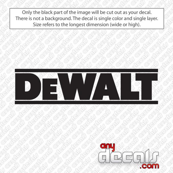 DeWalt Tools Logo Decal Sticker