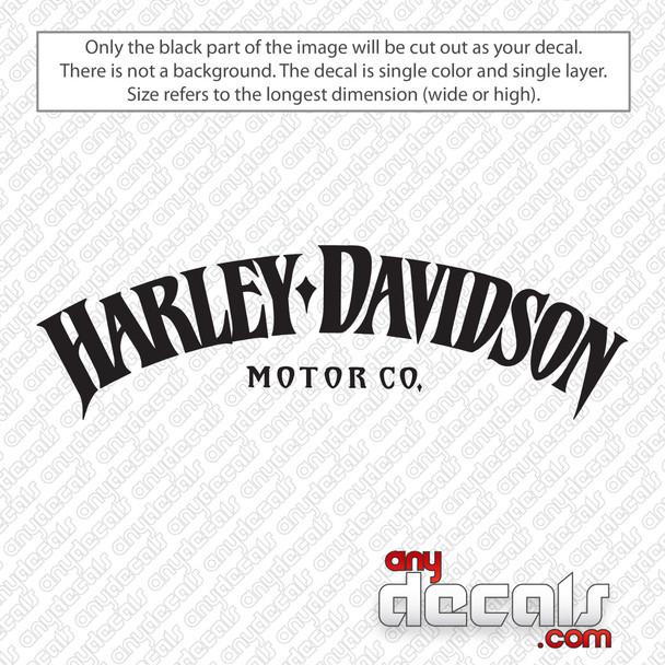 Harley Davidson Motor Co Decal Sticker