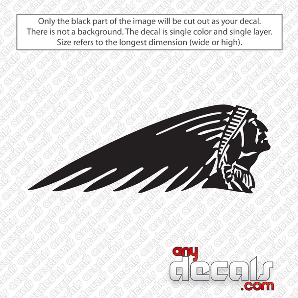 Indian Motorcycles Emblem Decal Sticker