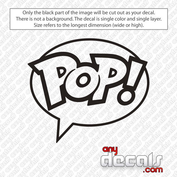 Funko Pop! Logo Decal Sticker