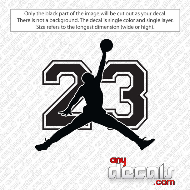 Jordan 23 Decal Sticker