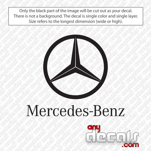Mercedes-Benz Logo Decal Sticker
