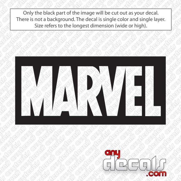 Marvel Comics Logo Decal Sticker
