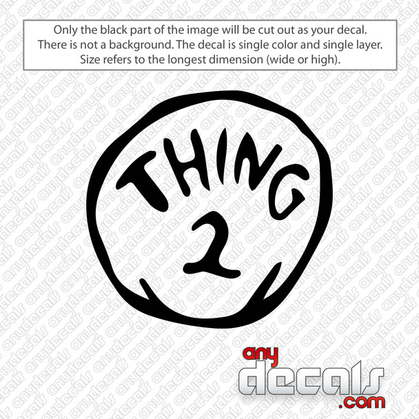 Thing 2 Dr. Seuss Decal Sticker