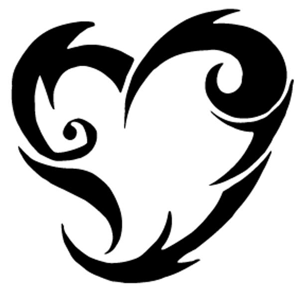 Heart Car Decal 12