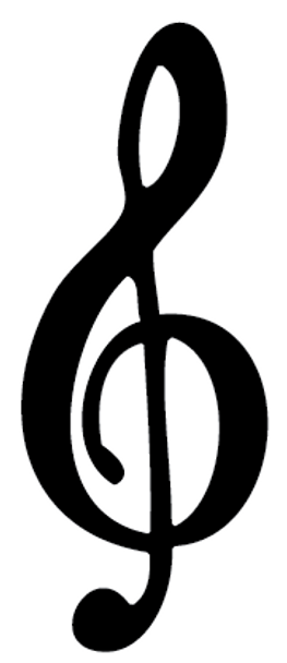Treble Clef Car Decal