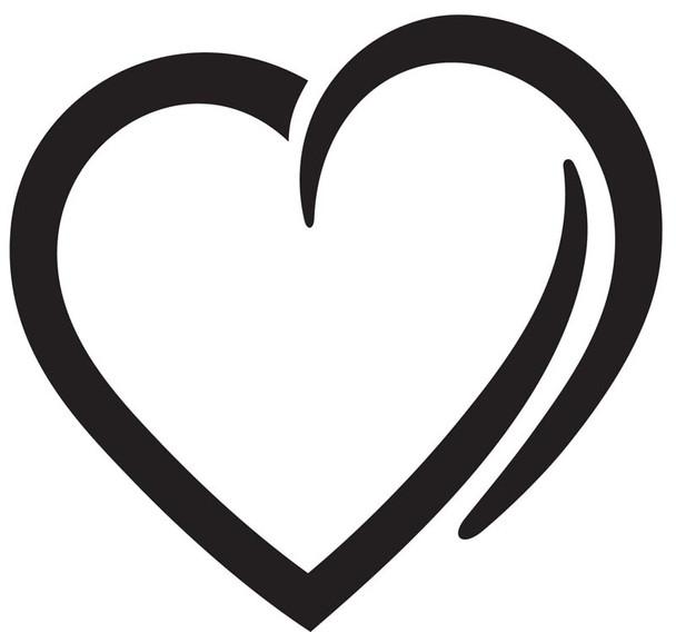 Heart Car Decal 13