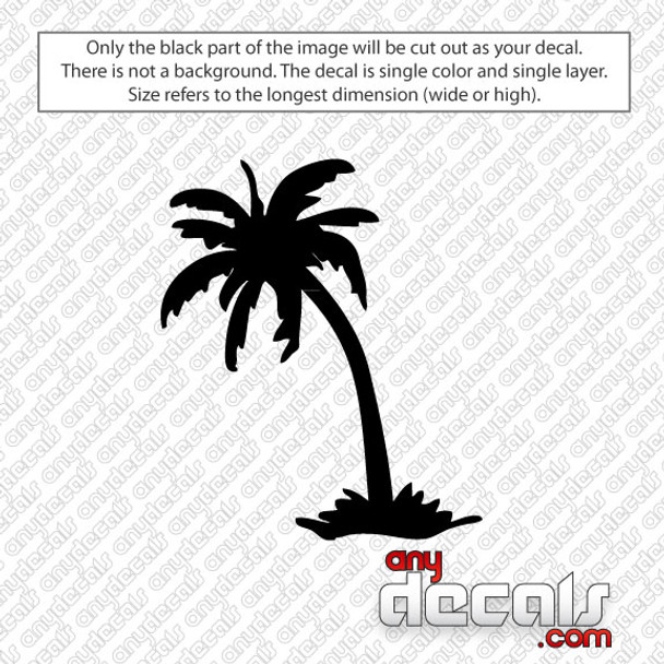 Leaning Palm Tree Car Decal