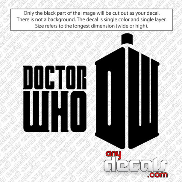 Dr Who Car Decal