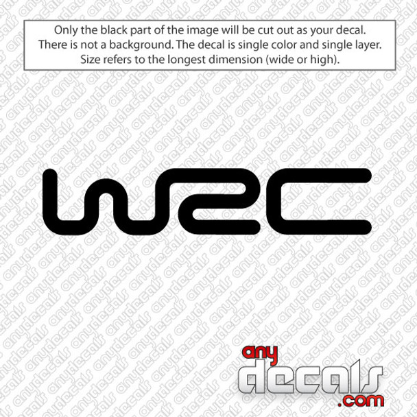 WRC - World Rally Championship Car Decal