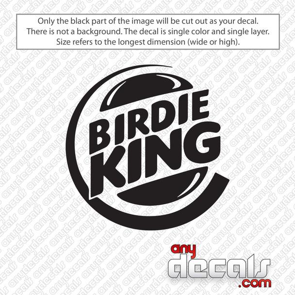 Golf Birdie King Decal Sticker