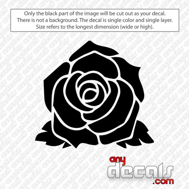 Rose Flower Decal Sticker