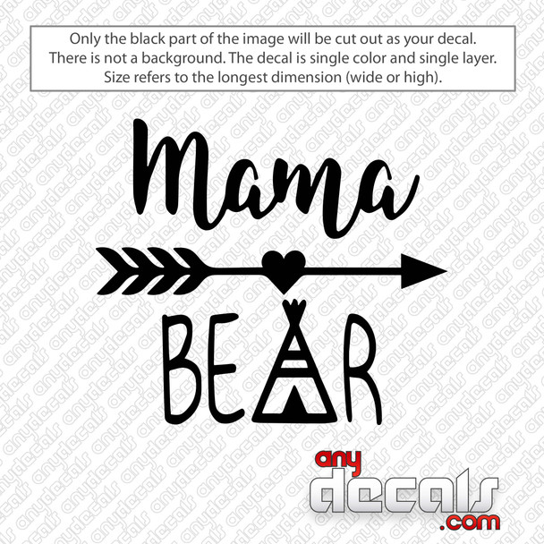 Mama Bear With Arrow Decal Sticker