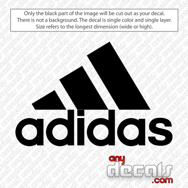 Adidas Logo with Text Decal Sticker
