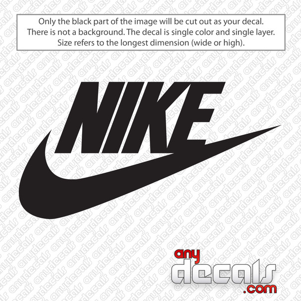 Nike Logo with Text Decal Sticker