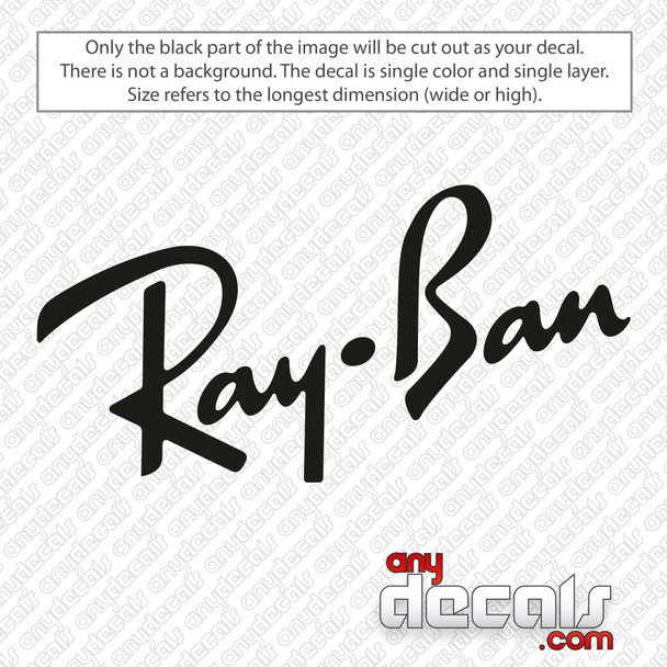Ray Ban Logo Decal Sticker