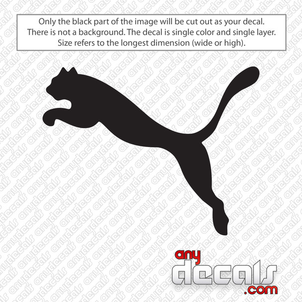 Puma Panther Logo Decal Sticker