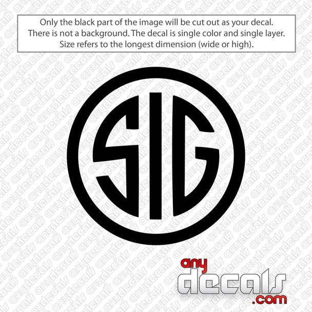 Sig Circle Logo Decal Sticker