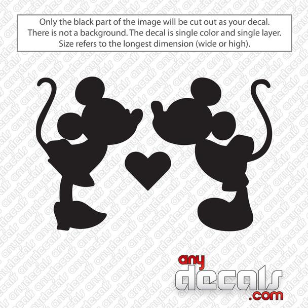 Disney Mickey Minnie Mouse Love Decal Sticker