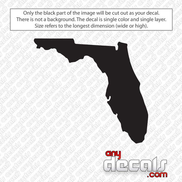 Florida State Decal Sticker