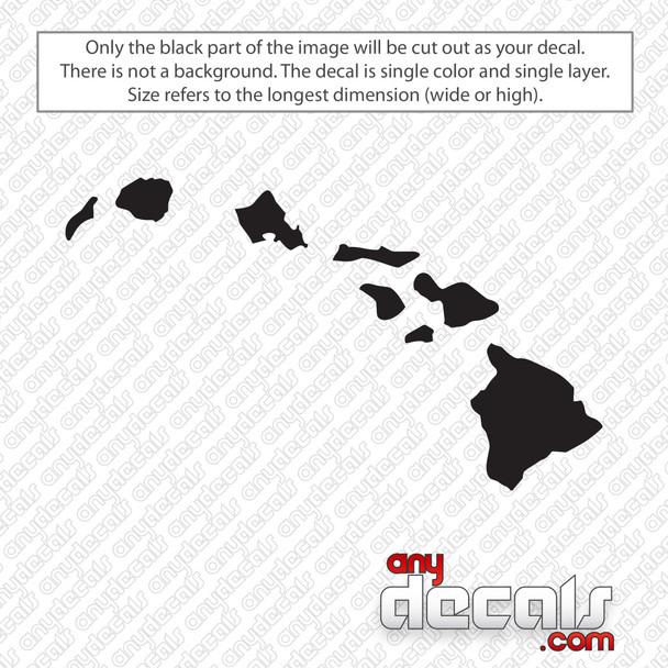 Hawaii State Decal Sticker