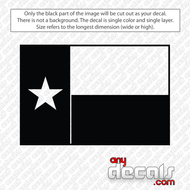 Texas State Flag Decal Sticker