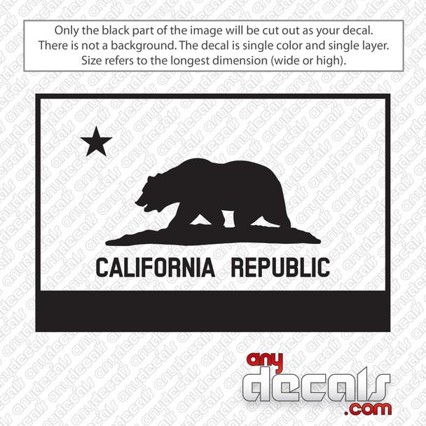 California Republic Flag Decal Sticker