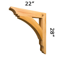 Wood Bracket 10T13 Crafted By ProWoodMarket