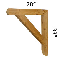 Wood Bracket 17T10 Crafted By ProWoodMarket