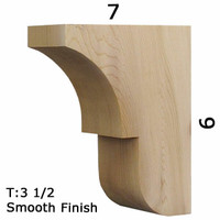Wood Corbel 29T3 Crafted By ProWoodMarket