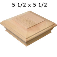 Cedar Post Cap 6x6 Crafted By Woodway Products