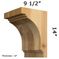 Wooden Corbel 30T11 Crafted By ProWoodMarket