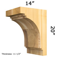 Wooden Corbel 30T12 Crafted By ProWoodMarket