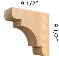 Wood Corbel 31T5S Crafted By ProWoodMarket