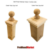 Cedar Wood Decorative Ball Finial 3 Crafted By Woodway Products
