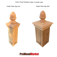 Cedar Wood Acorn Finial 3 Crafted By Woodway Products