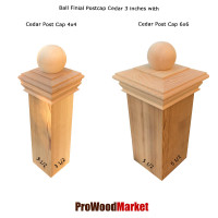 Cedar Wood Ball Finial 3 Crafted By Woodway Products