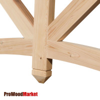 Gable Bracket 45T60 Crafted By ProWoodMarket
