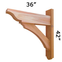 Trellis Wood Bracket 05T4 Crafted By ProWoodMarket