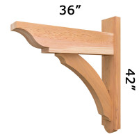 Trellis Wood Bracket 05T3 Crafted By ProWoodMarket