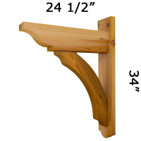 Trellis Wood Bracket 05T5 Crafted By ProWoodMarket