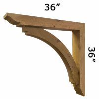 Wood Bracket 14T7 Crafted By ProWoodMarket
