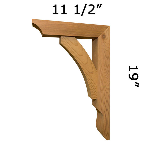 Wood Bracket 04T6 Crafted By ProWoodMarket